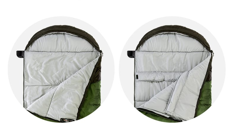 Outdoor Camping Ultralight Spliced Double Sleeping Bag