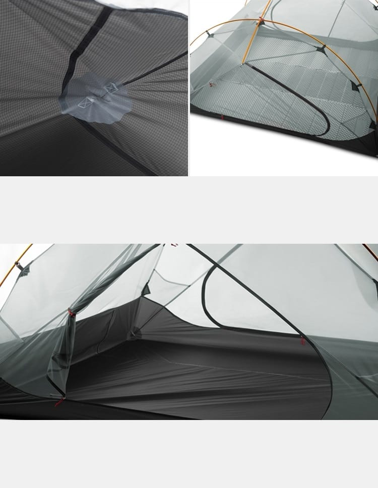 15D Camping Waterproof Tent for Three People