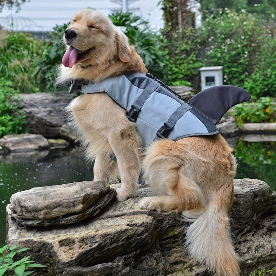 Pet Dog Life Jacket Vest Clothes Life Vest Collar Harness Pet Dog Swimming Summer Swimwear Mermaid Shark