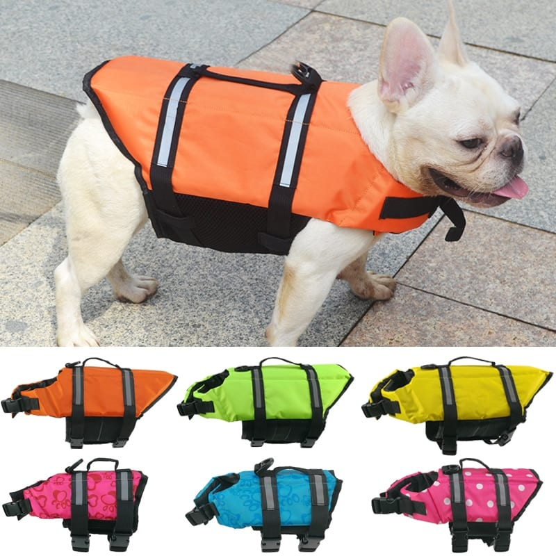Summer Dog Life Vest Reflective Safety Dog Clothes Life Jacket Pet Swimming Dog Clothes Puppy French Bulldog chihuahua Swimwear