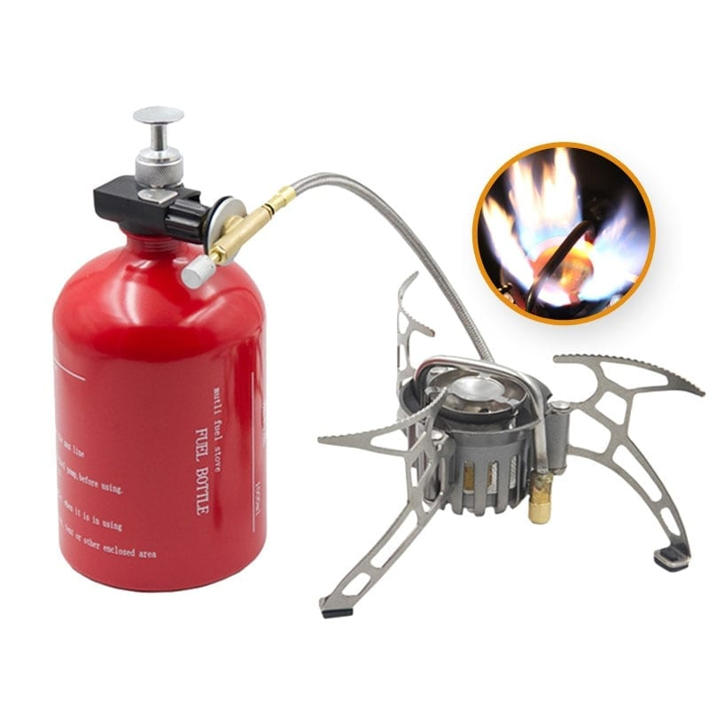 Portable Camping Gasoline and Propane Stove with Tank