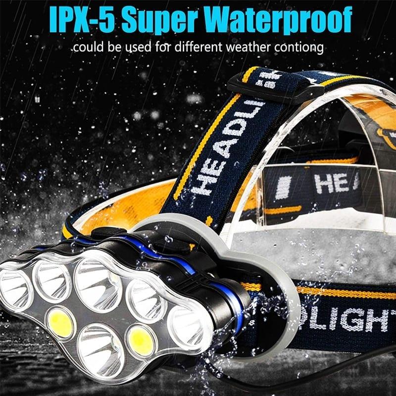 Rechargeable Night Fishing LED Headlamp