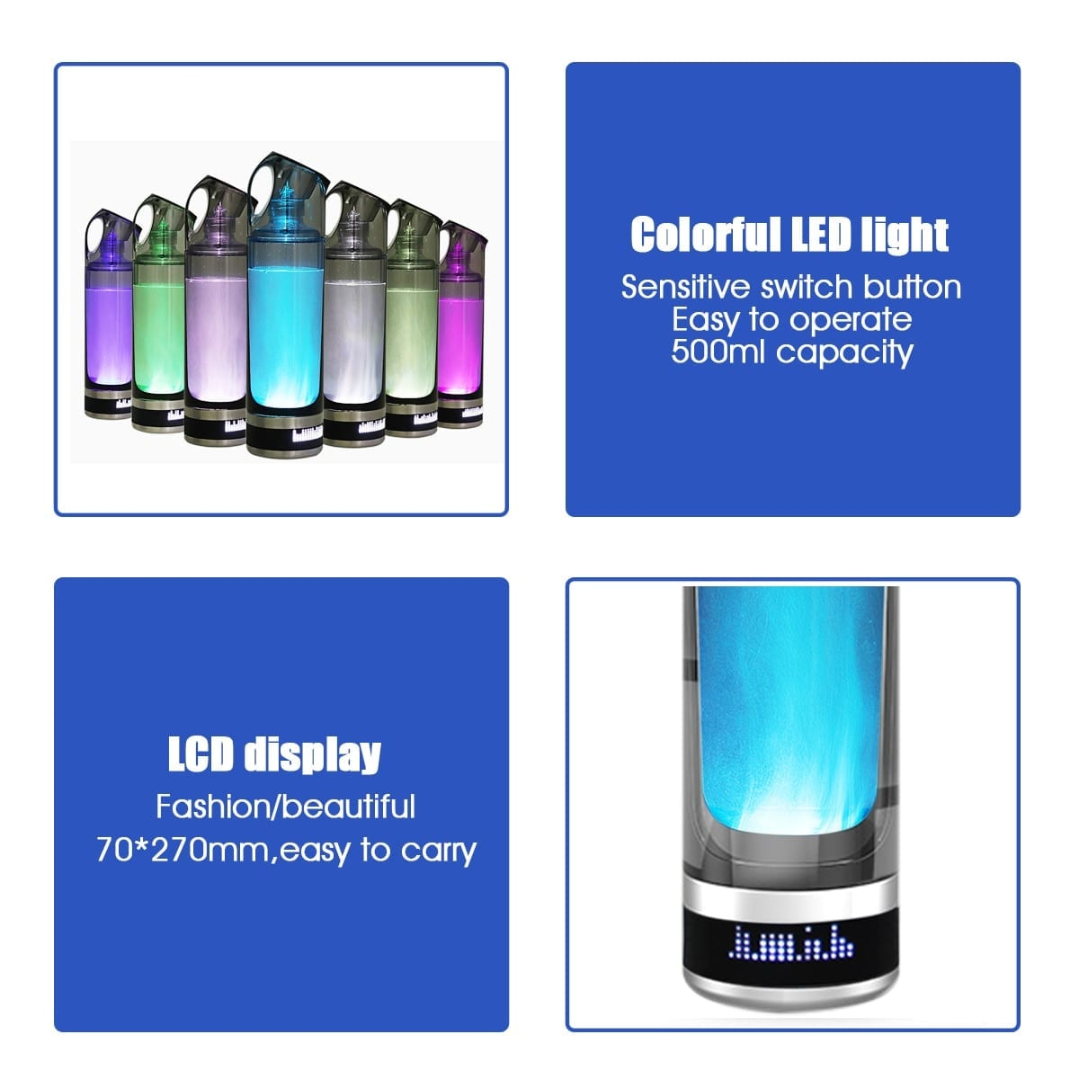 LED Portable Alkaline Water Bottle